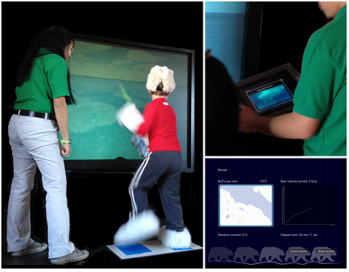 Figure 6. Users experiencing A Mile in My Paws immersive environment.