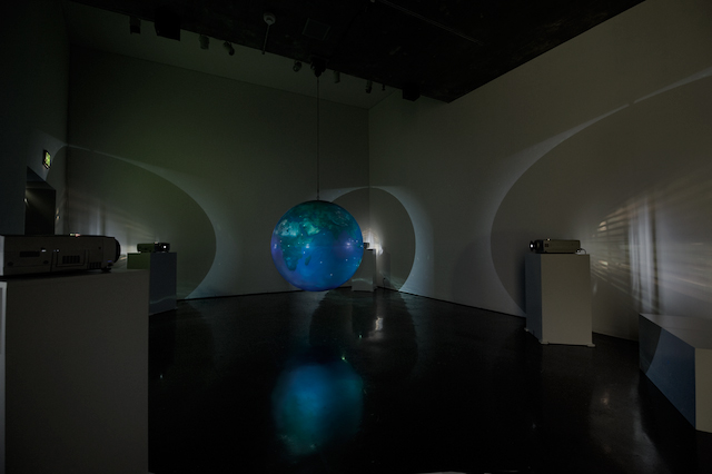 Fig. 5. Active Military and Reconnaissance Satellites of the United States of America, 2008, Trevor Paglen. Installation: The Other Night Sky / MATRIX 225, June 1, 2008–September 14, 2008; UC Berkeley Art Museum and Pacific Film Archive (BAM/PFA). Photo: Sibila Savage.