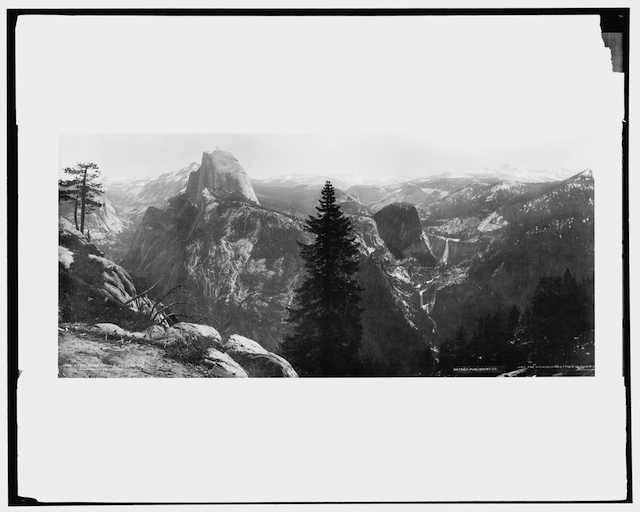 Fig. 10. High Sierras and Tenaya Canyon from Glacier Point, Yosemite Valley, California, circa 1901-1906, William Henry Jackson, glass negative approximately 8x10 inches, Library of Congress, Washington, D.C., Identifier No. LC-DIG-det-4a06290
