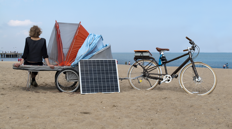 SR_Hab (Socially Responsive Habitat), 2010, Ana Rewakowicz, mobile self-sustainable bicycle unit, Ana Rewakowicz
