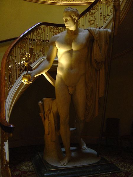 "Napoleon as Mars the Peacemaker (1802-6), Antonio Canova, White Marble, 136"" Collection of the Apsley House, London"