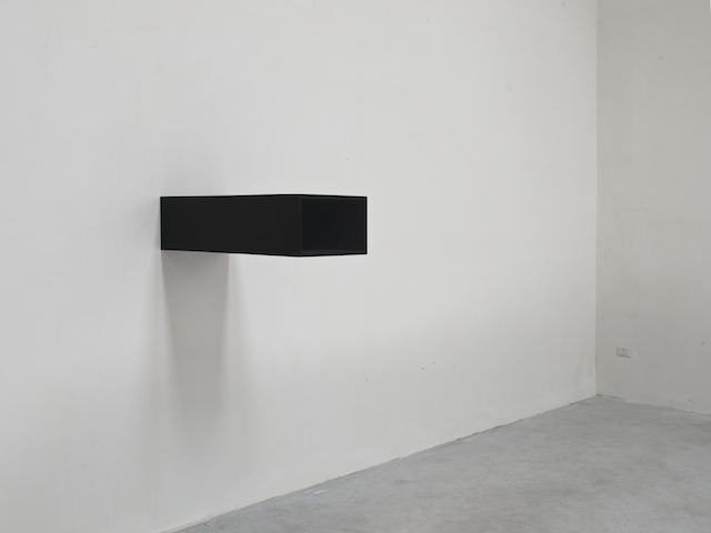 Fig. 2. #3 (Corbis Film Preservation Facility), 2009, Christian Andersson, MDF board, glass, plastic, paper, paint, electric lights, 90 x 42 x 25 cm. Installation: Christian Andersson, Galerie Nordenhake Stockholm, Sweden, 2009. Photo ©Terje Östling (Used with permission, Courtesy of Christian Andersson and Galerie Nordenhake Berlin / Stockholm.)