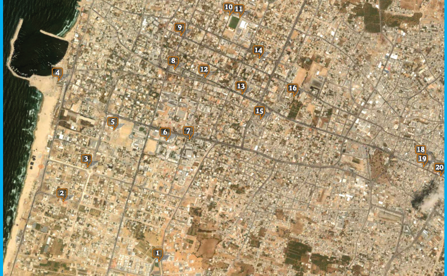 Fig. 1. Gaza/Tel-Aviv Map, Side 1, 2007, Mushon Zer-Aviv, screen capture, January 29, 2013, http://youarenothere.org/gaza-tlv/yanh_gaza_two-sided.pdf.