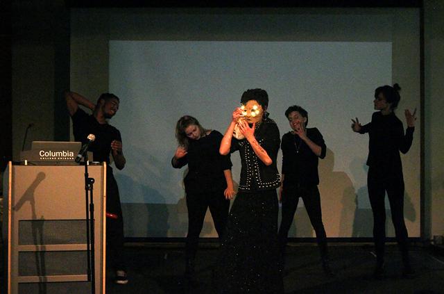 New Media Caucus Showcase, 2014, Sid Branca, performance, Photo ©BJ Allen.