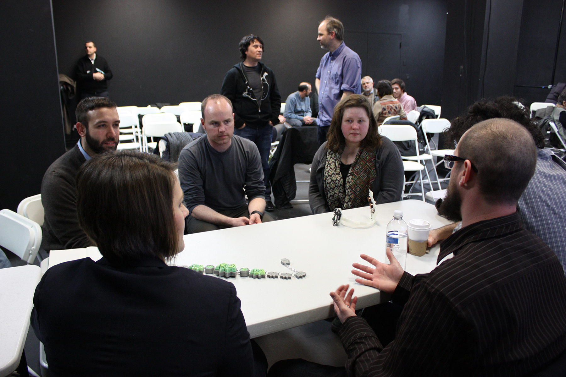 3D Printing Roundtable Discussion: Discussion breakout group led by Jason Ferguson, Taylor Hokanson, and Kristin Stransky, 2014. ©Rachel Clarke. (Used with permission.)