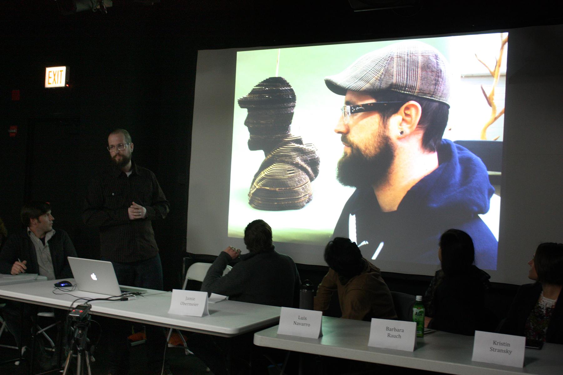 3D Printing Roundtable Presentation, 2014. Jason Ferguson. Photo © Rachel Clarke. (Used with permission.)