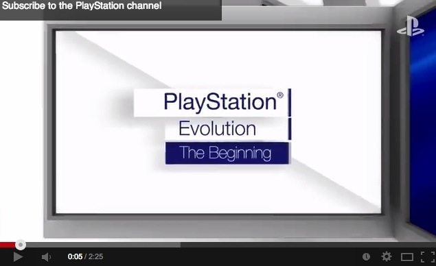Evolution of PlayStation: The Beginning, PlayStation, 2013, YouTube screen capture https://www.youtube.com/watch?v=U7w5i_YCFmQ, accessed June 28, 2014.