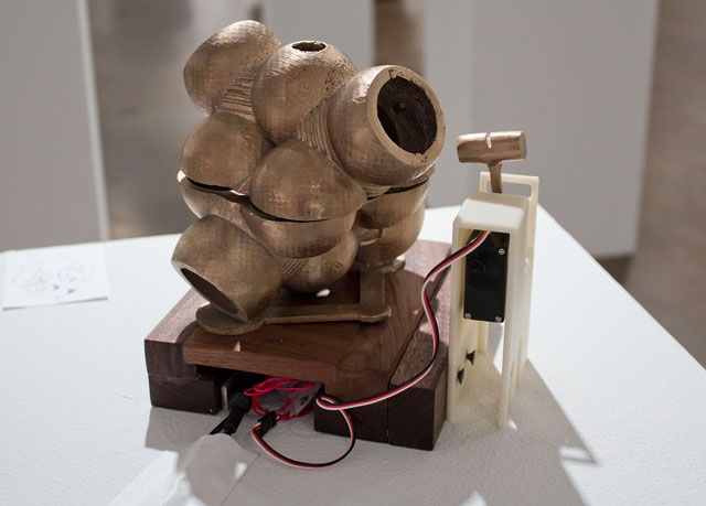 Copper Chloride, Luis Navarro, bronze, motor, electronics. ©Luis Navarro.