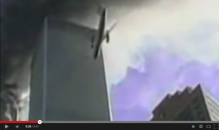 "PROOF ""PLANE' WAS HOLOGRAM THAT HIT 9/11, YouTube screen capture, https://www.youtube.com/watch?v=ek-Q0T9wK2g, accessed June 28, 2014."