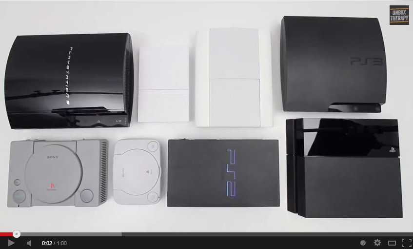 Playstation Iterations, YouTube screencapture, https://www.youtube.com/watch?v=OA4wBtpaPHY, accessed June 28, 2014.