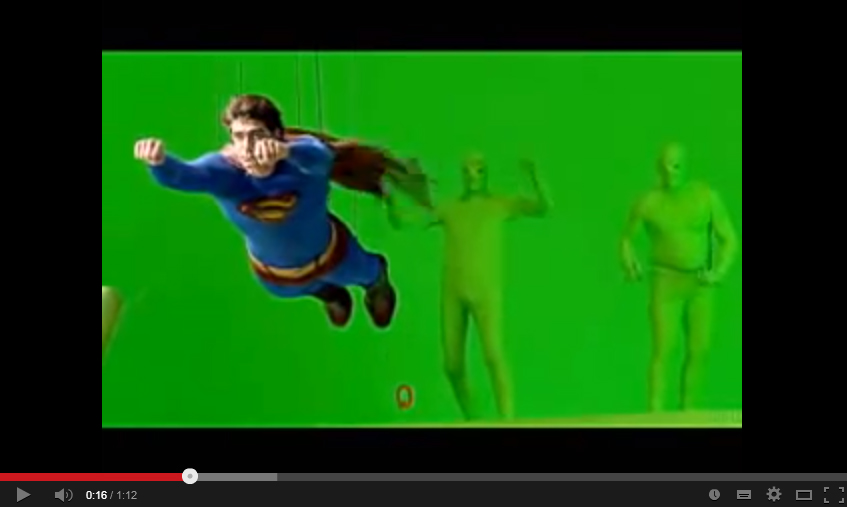 Superman Returns green screen work, 2006, Dir. Bryan Singer, YouTube screen capture, https://www.youtube.com/watch?v=56rr5_uWLsI, accessed June 28, 2014.
