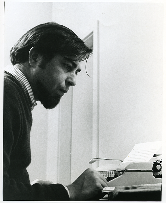 Jack Burnham, 1968. © Massachusetts Institute of Technology. Courtesy of the Center for Advanced Visual Studies, special Collection, MIT.