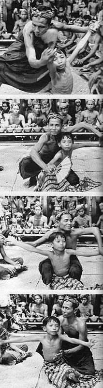 "Balinese Character: A Photographic Analysis, ""Visual and Kinaesthetic Learning II,"" page 86, plate 16, images 5-8 (Photos: Gregory Bateson, Public Domain)."