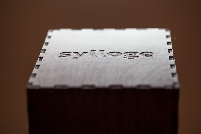 sylloge of codes, 2014, Nicholas A. Knouf, Raspberry Pi, pico projector, plywood, custom software. CC BY-SA 2.0.