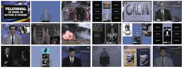 "Screenshots from kinema ikon, ready media, 1995, media installation, cd.rom, vhs, 25'47"" © kinema ikon. (Used with permission.)"