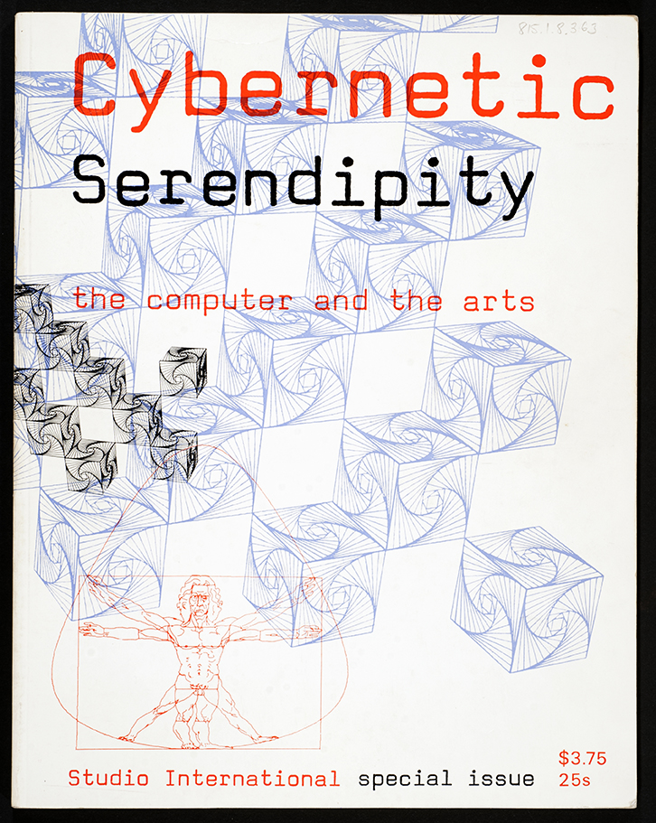 Cybernetic Serendipity: the Computer and the Arts, 1968, poster of the exhibition curated by Jasia Reichardt, London and touring in the United States of America. Used with permission.