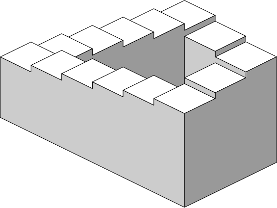 Penrose stairs. Public domain (contributed by Sakurambo).