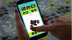 TechnoSphere 2.0: Creature Create app, 2015. Jane Prophet and Mark Hurry, Android app, ©Jane Prophet