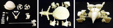 TechnoSphere 2.0: 3D print, 2015. Jane Prophet, Mark Hurry and Natasha Carolan, 3D printed TechnoSphere 2.0 creature, ©Jane Prophet