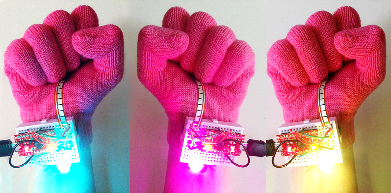 Empower Glove, 2016, Zoe Doubleday, Wearable Technology, © Zoe Doubleday. (Used with Permission.)