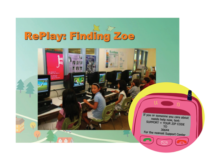 RePlay: Finding Zoe, 2007, Take Action Games, digital video game, © Susana Ruiz. (Used with Permission.)