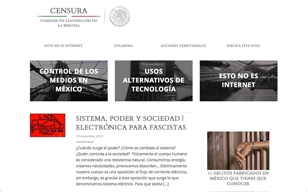 Astrovandalistas, #EstoNoEsInternet (detail), 2014. Website. © Astrovandalistas.