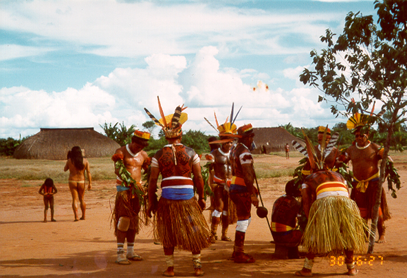 Fig. 3. Kuikuro tribe during ritual in Alto Xingu, Brazil. ˝ Diana Domingues/CNPq, Brazil.