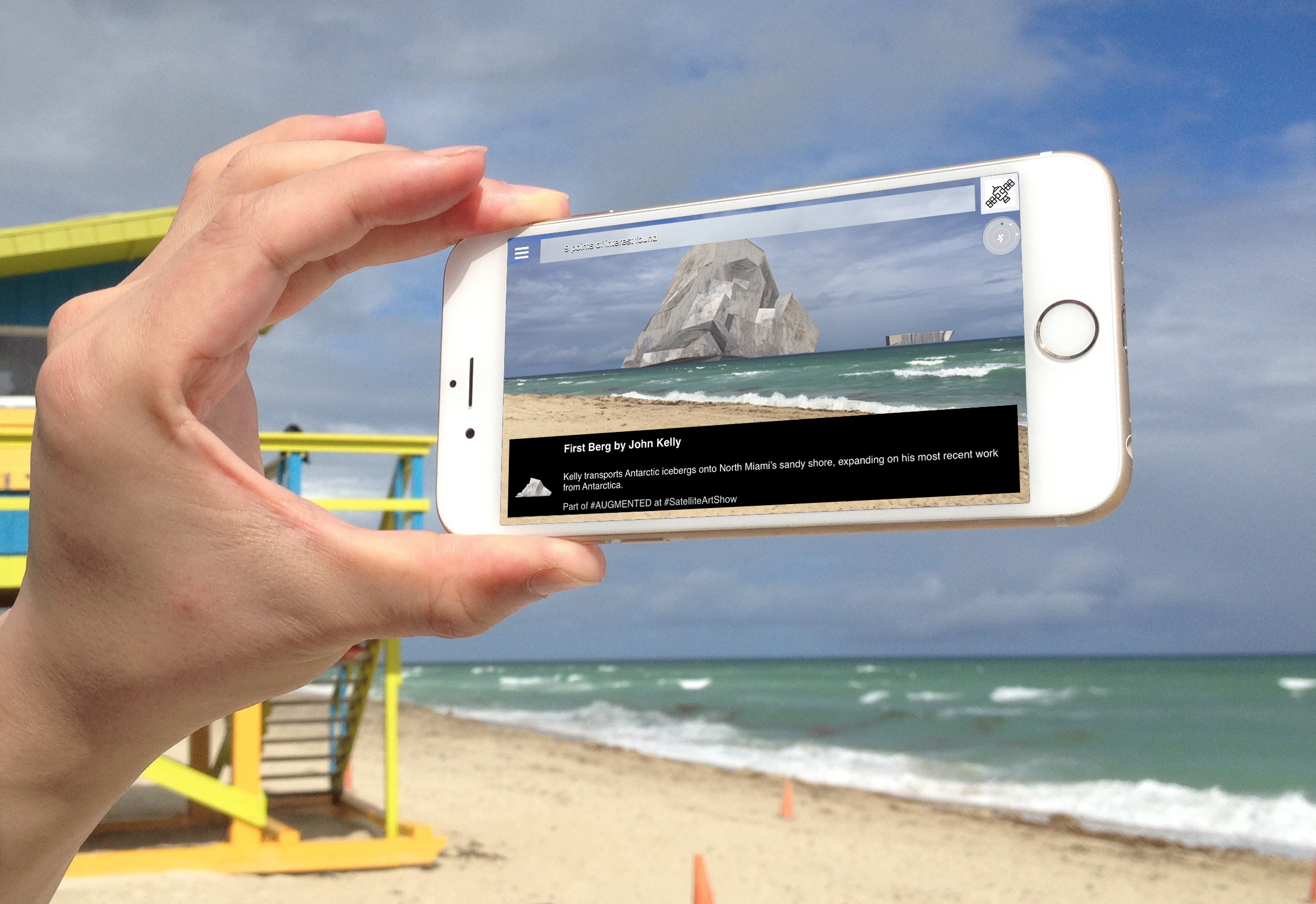 Installation view, Exhibition #AUGMENTED, 2015, showing En Plein Air In Plain Sight (partial view), 2015, by John Kelly, Miami, Florida ©Spark Art Management/SPARK+