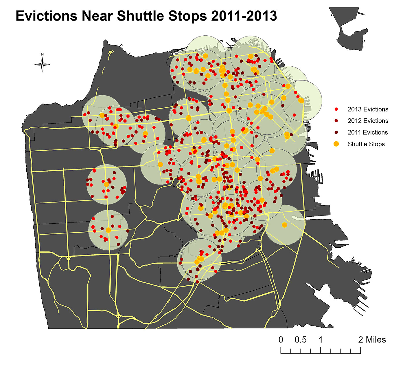 Tech Bus Evictions, 2015, Anti-Eviction Mapping Project © Anti-Eviction Mapping Project