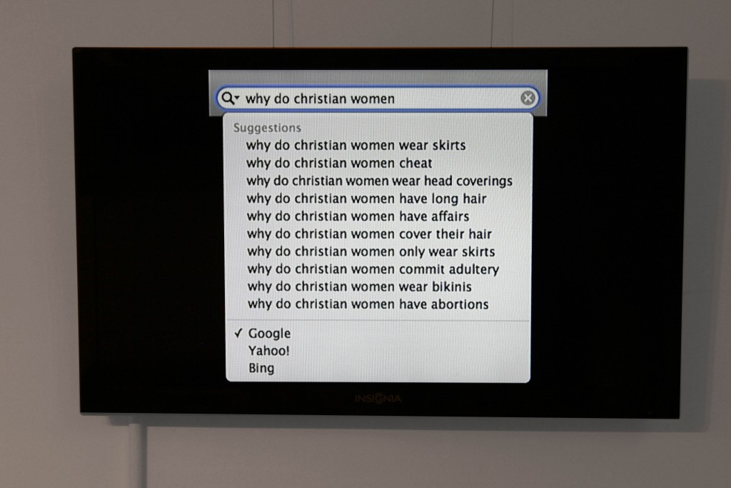 "Julia Kim Smith ""Why?"" 2013. Monitor, one-minute quicktime loop. Image courtesy of Lisa Moren."